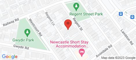 Location map for 8/106 Regent Street New Lambton