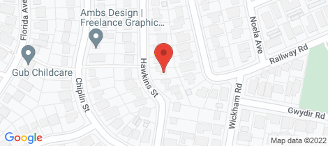 Location map for 22 Hawkins Street New Lambton