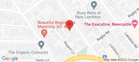 Location map for 8/84 Regent Street New Lambton