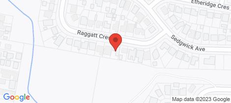 Location map for 13 Raggatt Cres Edgeworth