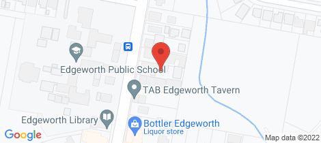 Location map for 10 Minmi Road Edgeworth