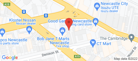 Location map for 202/5 Tudor Street Newcastle West