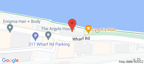 Location map for 31/304 Wharf Road Newcastle