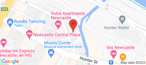 Location map for 809/19-25 Bellevue Street Newcastle West