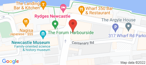 Location map for 403/335 Wharf Road Newcastle