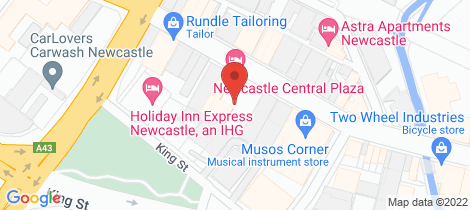 Location map for 55/741 Hunter Street Newcastle West