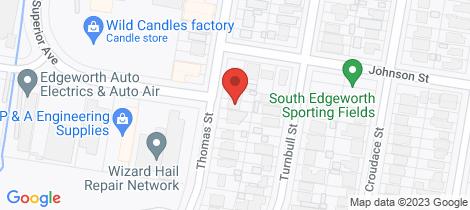 Location map for 32 Thomas Street Edgeworth