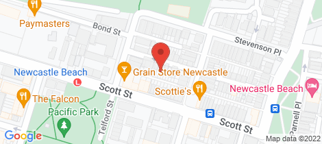 Location map for 35 Alfred Street Newcastle East