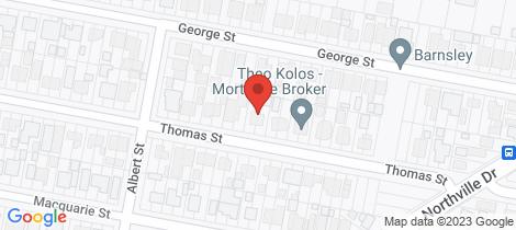 Location map for 35 Thomas Street Barnsley