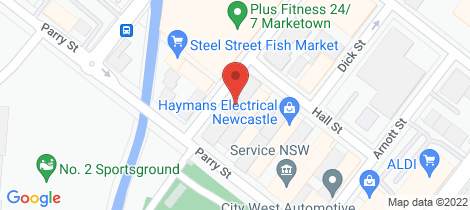 Location map for 806/23 Ravenshaw Street Newcastle West