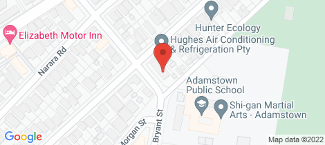 Location map for 1/8 Mandalong Road Adamstown