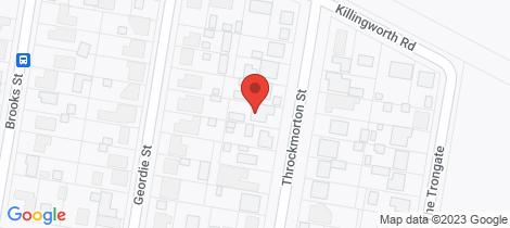 Location map for 10 Throckmorton Street Killingworth