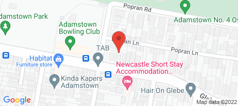 Location map for 500 Glebe Road Adamstown