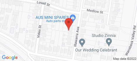 Location map for 10 Illawarra Avenue Cardiff