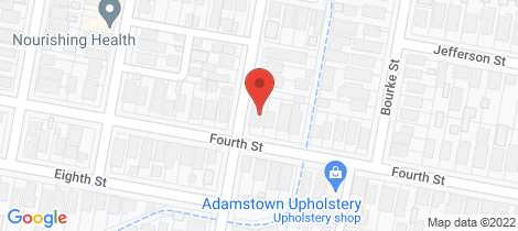 Location map for 38 Fourth Street Adamstown