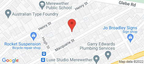Location map for 26 Macquarie Street Merewether