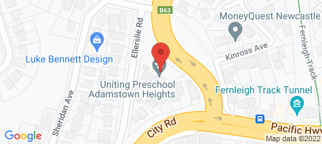 Location map for 202 Northcott Drive Adamstown Heights