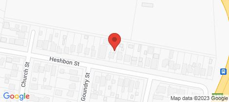 Location map for 29 Heshbon Street, Gateshead