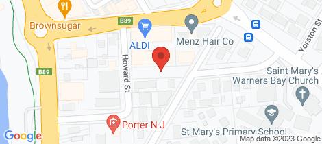 Location map for 128/4 Howard Street Warners Bay