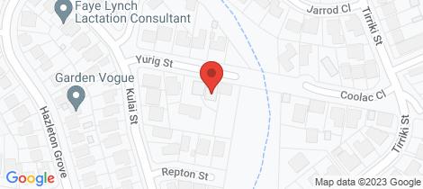 Location map for 8b Yurig Street Charlestown
