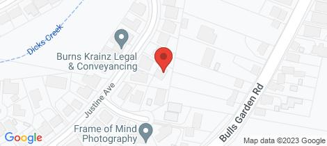 Location map for 38 Justine Avenue Whitebridge