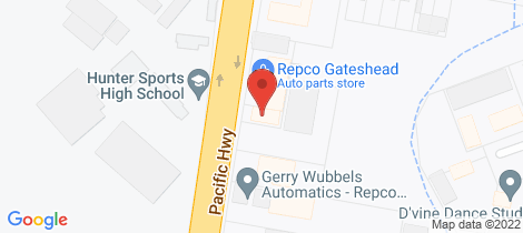Location map for 25 Pacific Highway Gateshead