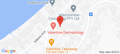 Location map for 2/68 Dilkera Avenue Valentine