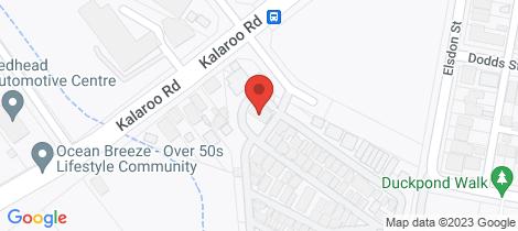 Location map for 99/1A Kalaroo Road Redhead