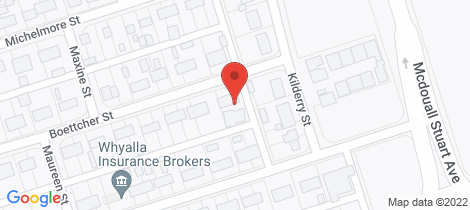 Location map for 1-3 BOETTCHER STREET Whyalla Stuart