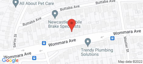 Location map for 177 Wommara Avenue Belmont North