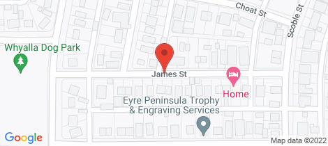 Location map for 2A JAMES STREET Whyalla Norrie
