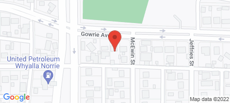 Location map for 75 GOWRIE AVENUE Whyalla Playford