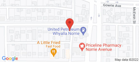 Location map for 1 LEWTHWAITE STREET Whyalla Norrie