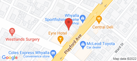 Location map for 35A PLAYFORD AVENUE Whyalla Playford