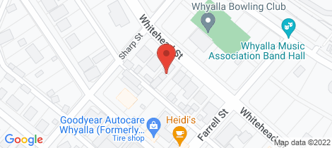 Location map for 2/23 WHITEHEAD STREET Whyalla