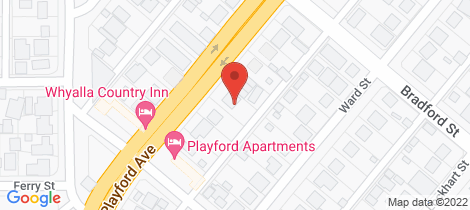 Location map for 92 PLAYFORD AVENUE Whyalla