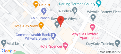 Location map for 8 FORSYTH STREET Whyalla