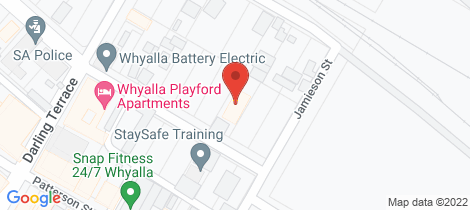 Location map for 14 HORWOOD STREET Whyalla