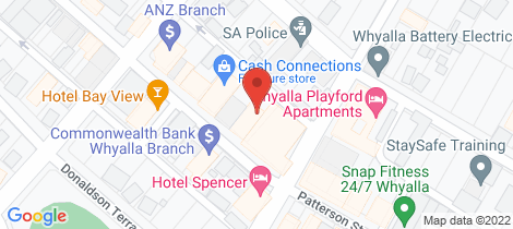 Location map for 6A Forsyth Street Whyalla