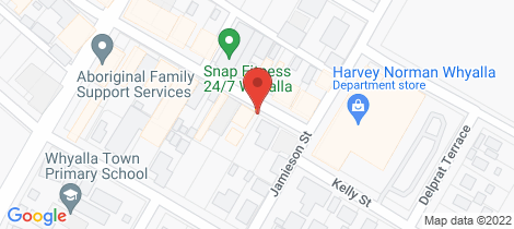 Location map for 49 PATTERSON STREET Whyalla