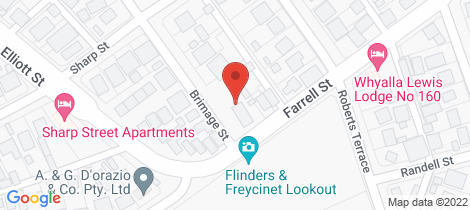 Location map for 9/2-4 BRIMAGE STREET Whyalla