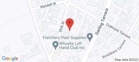 Location map for 8 DICK STREET Whyalla