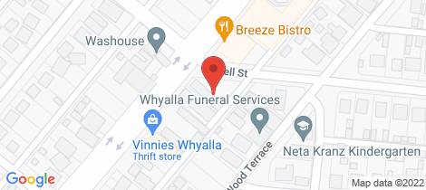Location map for 96 ESSINGTON LEWIS AVENUE Whyalla