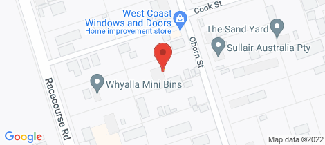 Location map for 9 OBORN STREET Whyalla Norrie