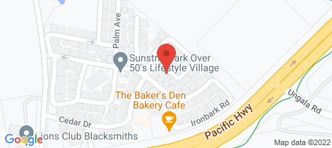 Location map for 37/68 Pacific Highway, Sunstrip Park Blacksmiths