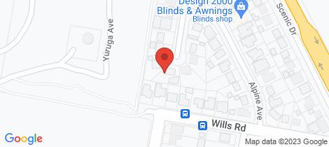 Location map for 4 Claridge Crescent San Remo