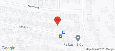 Location map for 10 Molloy Drive Orange