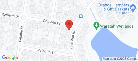 Location map for 124 Diamond Drive Orange