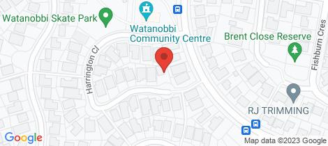 Location map for 30 Harrington Close Watanobbi