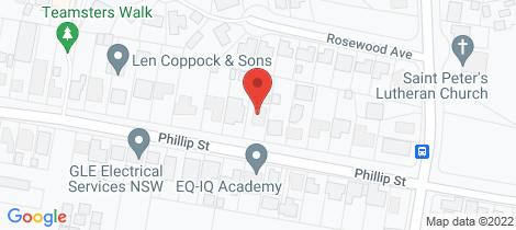 Location map for 161 Phillip Street Orange